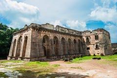 Mandu Historic Hindola Palace stock photo