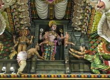 Ancient Hindu Pathirakali Amman temple in Trincomalee, Sri Lanka royalty free stock image