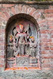 Ancient Hindu Relief, Changu Narayan Temple, Nepal Royalty Free Stock Images