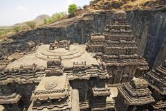 Ancient Hindu Rock Temple Stock Photo