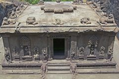 Ancient Hindu Rock Temple Royalty Free Stock Photos