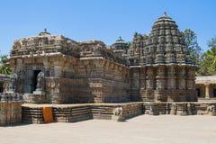 Ancient Hindu soapstone temple in Karnataka. The 13th century Channakeshava, or Hoysalakesava, temple at Somnathpur in Karnataka, India, renowned for its Royalty Free Stock Image
