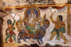 Ancient Hindu spiritual concept painting Stock Photos