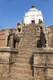 Ancient Hindu Temple, Bhaktapur, Nepal Stock Photos