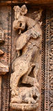 Ancient Hindu Temple at Konark (India). Intricate carvings on a stone wheel in the ancient Surya Hindu Temple at Konark, Orissa, India. 13th Century AD Stock Images