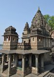 Ancient Hindu Temple at Maheshwar Ghat Stock Photo