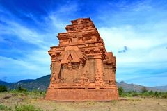 Ancient hindu temple middle of nowhere. stock image