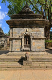 Ancient Hindu temple in Pashupatinath before the earthquake that Royalty Free Stock Photography