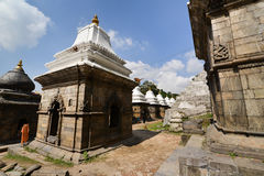 Ancient Hindu temple in Pashupatinath before the earthquake that Royalty Free Stock Photos