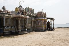 Ancient hindu temple in Trincomalee. Hindu temple in Trincomalee, Sri lanka. Ancient hindu god statutes Stock Image
