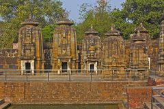 Ancient Hindu temples Stock Photo