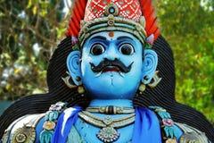 Ancient Hinduism god sculpture on India.  Stock Photos