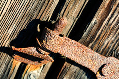 Ancient hinge Royalty Free Stock Images