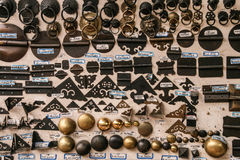 Ancient hinges in collection market,chengdu,china Stock Image