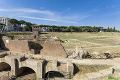 Ancient Hippodrome Circus Maximus in Rome Stock Photography