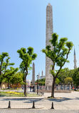 Ancient Hippodrome with obelisks in Istanbul Stock Photo