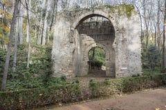 Ancient historic door, Puerta de Bibrambla, arab architecture. G. Ranada, Spain Royalty Free Stock Images
