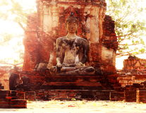 Ancient  historic site in Ayuttaya province,Thailand. Royalty Free Stock Photos