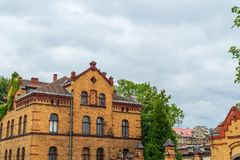 Ancient historical architecture in Poznan city, Poland royalty free stock photo