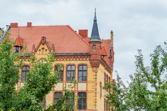 Ancient historical architecture in Poznan city, Poland royalty free stock photography
