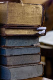 Ancient historical books. Close-up royalty free stock image