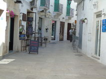 Ancient historical center of Monopoli. Southern Italy Stock Photo