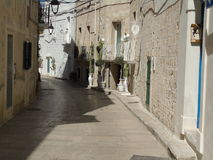 Ancient historical center of Monopoli. Southern Italy Stock Image