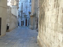 Ancient historical center of Monopoli. Southern Italy Stock Photography