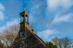 Ancient Historical Church Building and its Weather vane with Plo Royalty Free Stock Images