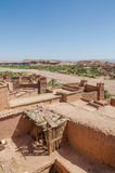Ancient historical clay town Aid Ben Haddou where Gladiator and other movies were filmed, Morocco, North Africa Royalty Free Stock Photography