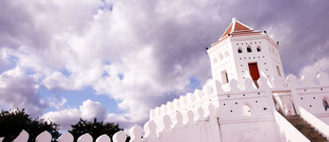 Ancient historical fortress in Bangkok Stock Photography