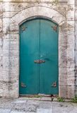 Ancient history iron door Stock Photo