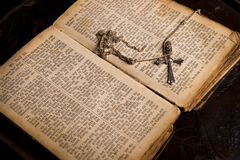 Ancient holy bible Royalty Free Stock Photos