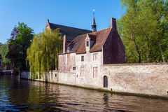 Ancient Homes of Bruges Royalty Free Stock Photos
