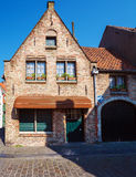 Ancient Homes of Bruges Stock Images