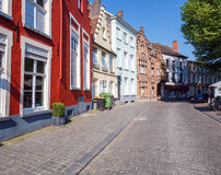 Ancient Homes of Bruges Royalty Free Stock Images
