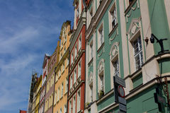 Ancient homes on a sunny day in Wroclaw Royalty Free Stock Photo