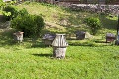 Ancient honey bee hives Royalty Free Stock Photo