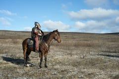 Ancient horseman Stock Image