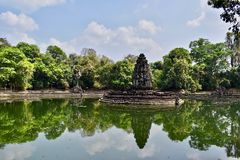 Neak Pean in Angkor area stock photos