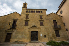 Ancient Hospital of Santa Creu. This ancient hospital was constructed in 1345 and later on remodeled from 1549 to 1557, it is an excellent example of the rich Stock Photo