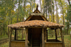 Ancient house. Travel in Russia, house on chicken legs in Abramtsevo Royalty Free Stock Photography