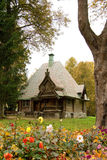 Ancient house. Travel in Russia, Abramtsevo, beautiful wooden house Stock Photo