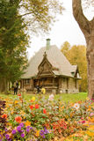 Ancient house. Travel in Russia, Abramtsevo, beautiful wooden house Stock Image