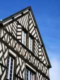 Ancient House. Ancient tradtional house in france on blue sky background royalty free stock images
