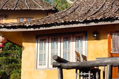 Ancient house at Ban Rak Thai (the Thai-loving village) Stock Photos