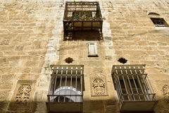 Ancient house facade in Old City of Jerusalem. Stock Images
