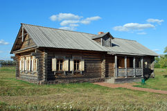 The ancient house from a felling in the Lermontovsky memorial estate `Tarkhany` of the Penza region. Stock Photography