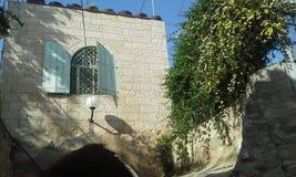 Ancient house at Jerusalem Stock Photo