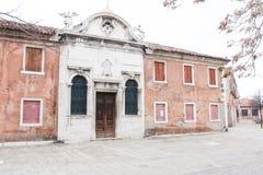Old house on Murano island, near Venice, Italy stock image